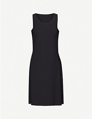 WOLFORD: Bianca round-neck stretch-woven mini dress