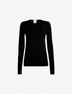 WOLFORD Round-neck stretch-jersey top