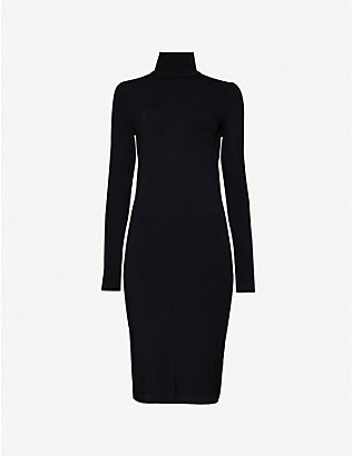 WOLFORD: Aurora stretch-jersey midi dress