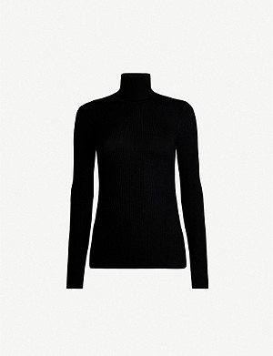 WOLFORD Turtleneck fine-rib merino wool jumper