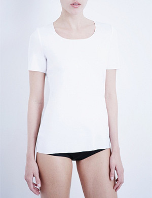 WOLFORD Scoop neck jersey T-shirt