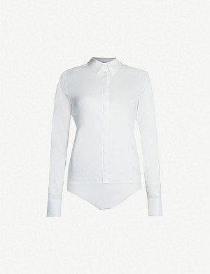 WOLFORD Shirt-style cotton-blend body
