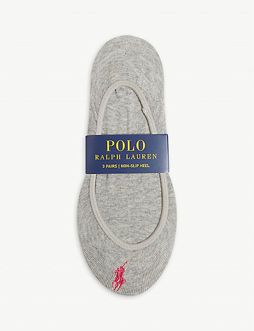 POLO RALPH LAUREN Cotton-blend set of three liner socks
