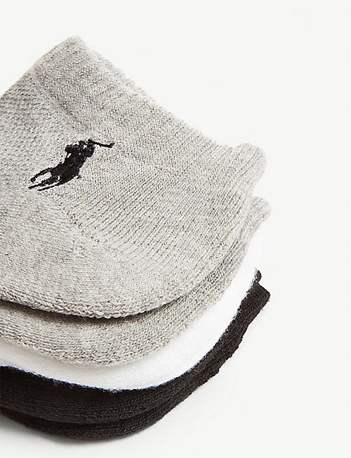 POLO RALPH LAUREN Logo cushioned sole socks set of six