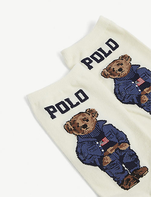 POLO RALPH LAUREN American flag cotton-blend socks