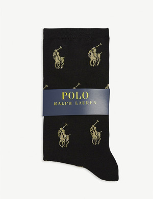 POLO RALPH LAUREN Glitter logo cotton-blend socks