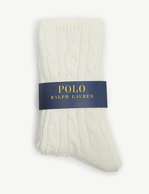 POLO RALPH LAUREN Cable-knit cotton blend socks