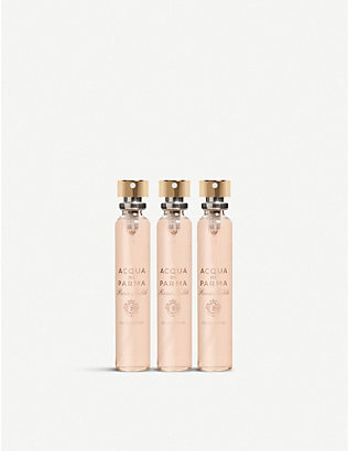 ACQUA DI PARMA: Rosa Nobile purse spray refills 3 x 20ml