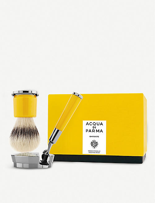 ACQUA DI PARMA: Barbiere shaving brush and razor set