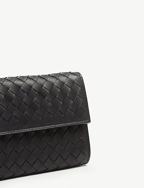 BOTTEGA VENETA Intrecciato woven leather purse