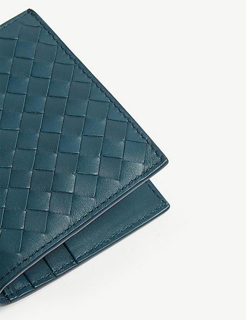 d287eac09163 BOTTEGA VENETA Intrecciato small woven leather billfold wallet · Quick Shop