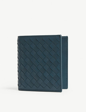 BOTTEGA VENETA Intrecciato small woven leather billfold wallet