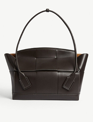 BOTTEGA VENETA Arco trapeze woven medium leather shoulder bag
