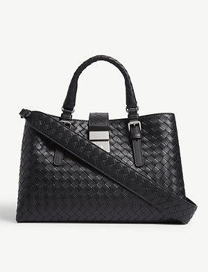 BOTTEGA VENETA Roma leather shoulder bag