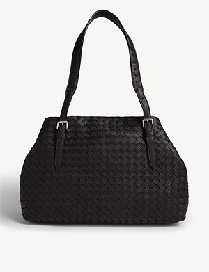 BOTTEGA VENETA Intrecciato weave leather tote bag