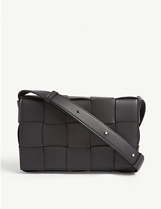 BOTTEGA VENETA: Woven leather crossbody bag