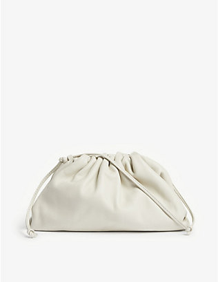 BOTTEGA VENETA: The Pouch small leather clutch