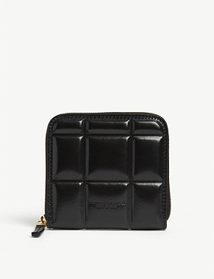 BOTTEGA VENETA Padded small zip-up leather wallet