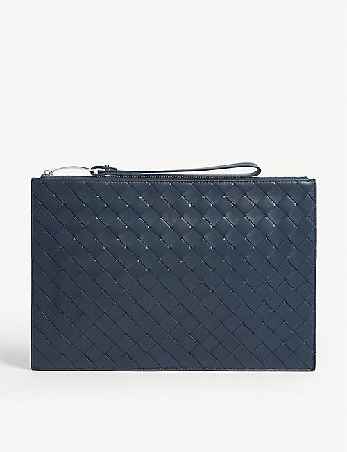 BOTTEGA VENETA Large leather Intrecciato pouch bag