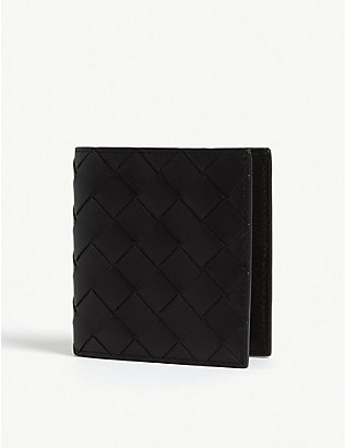 BOTTEGA VENETA: Intreccio small leather bifold wallet