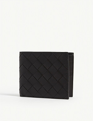 BOTTEGA VENETA Intrecciato woven leather billfold wallet