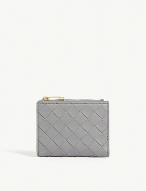 BOTTEGA VENETA Intrecciato weave leather continental wallet