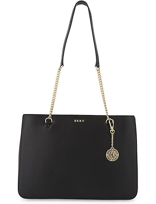 c02a134d592e DKNY Bryant Park large leather shoulder bag