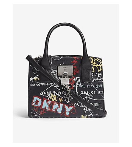 5bd28d707331 DKNY - Elissa graffiti-print leather tote