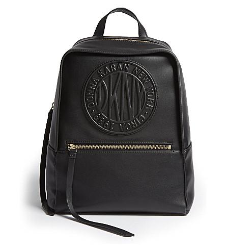 DKNY - Tilly logo leather backpack  e0d45c6238bab