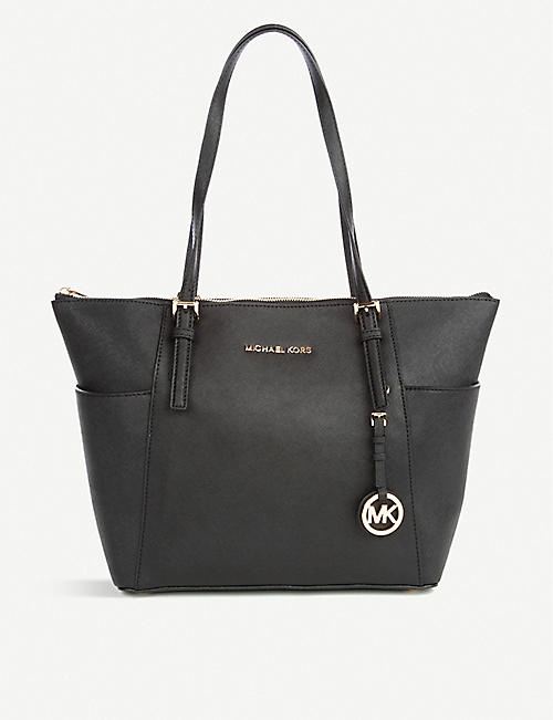 53fa0f1e1164 ... leather cross-body bag. £175.00. MICHAEL MICHAEL KORS Jet Set Saffiano  tote