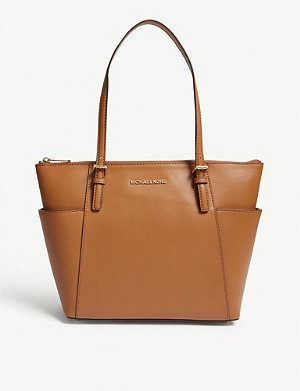 MICHAEL MICHAEL KORS Jet Set leather trapeze tote