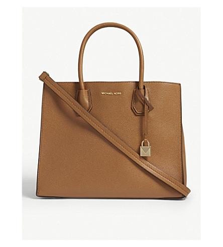 ad0ec771f77061 MICHAEL MICHAEL KORS Mercer large grained leather tote bag (Acorn