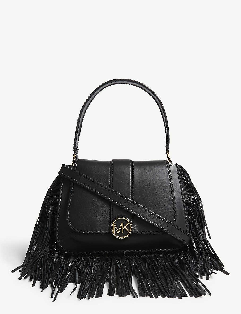c4b809276856 MICHAEL MICHAEL KORS - Lillie fringed leather shoulder bag ...