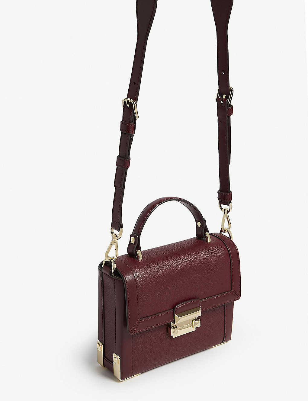 72dd627aeee5 MICHAEL MICHAEL KORS - Jayne pebbled leather trunk bag