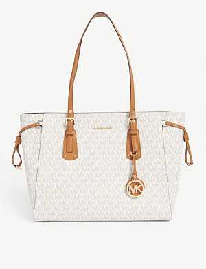 MICHAEL MICHAEL KORS Voyager coated canvas tote