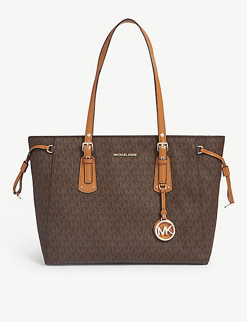 MICHAEL MICHAEL KORS: Voyager coated canvas tote