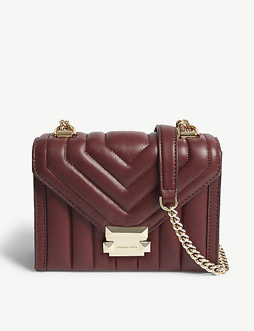ef0fb426dada MICHAEL MICHAEL KORS - Whitney small leather shoulder bag | Selfridges.com