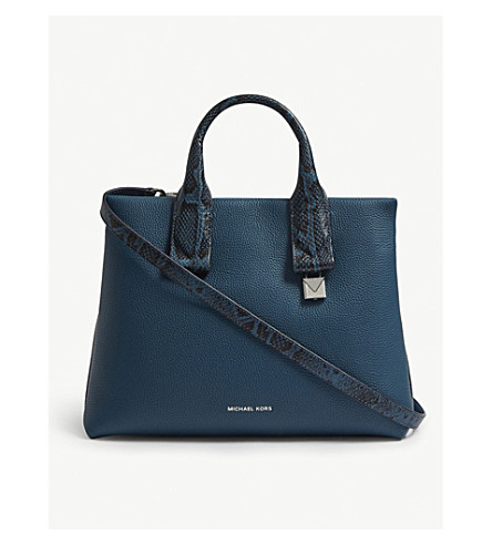 a0fe60218cdd MICHAEL MICHAEL KORS Rollins large leather satchel (Luxe+teal