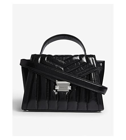 ba59c368483a MICHAEL MICHAEL KORS Whitney leather satchel (Black