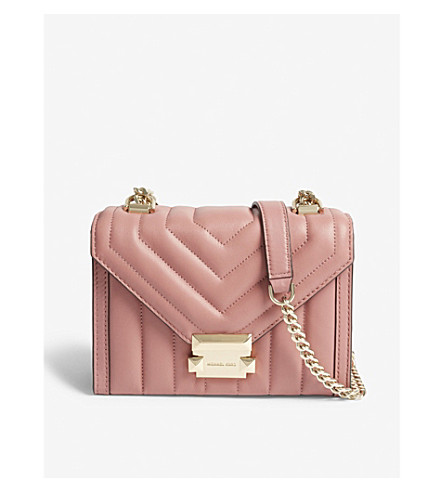 e69f1c41cce8 ... MICHAEL MICHAEL KORS Whitney small leather shoulder bag (Rose.  PreviousNext