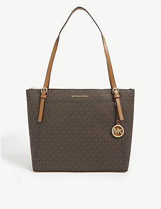 MICHAEL MICHAEL KORS: Voyager monogram canvas tote bag