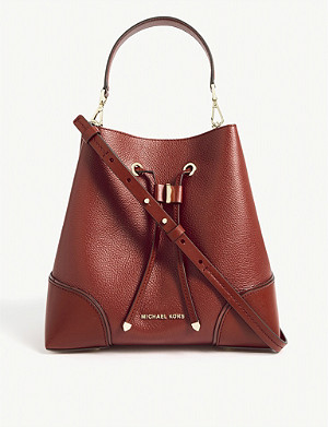 MICHAEL MICHAEL KORS Mercer gallery small leather bucket bag