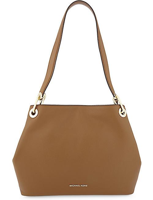 a68b526b063f0 MICHAEL MICHAEL KORS - Raven pebbled leather shoulder bag ...