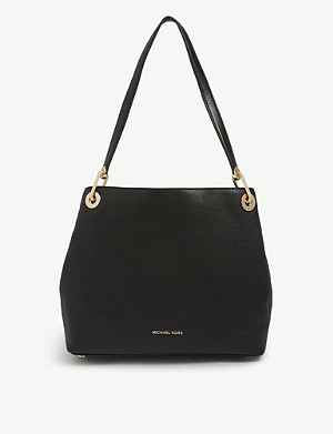 21a025893517 MICHAEL MICHAEL KORS - Raven pebbled leather shoulder bag ...