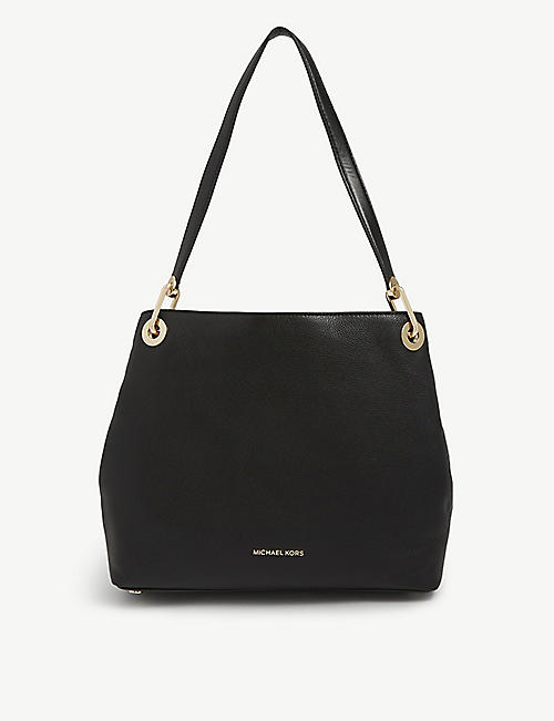 MICHAEL MICHAEL KORS: Raven pebbled leather shoulder bag