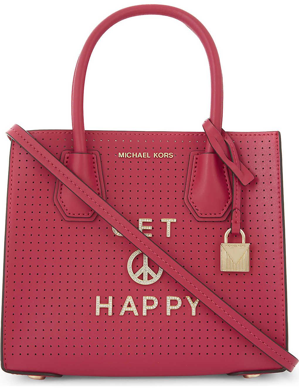 a0514748c1eb87 MICHAEL MICHAEL KORS - Mercer perforated leather cross-body bag ...