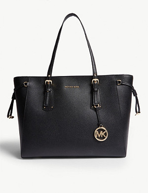 MICHAEL MICHAEL KORS Voyager crossgrain leather tote bag