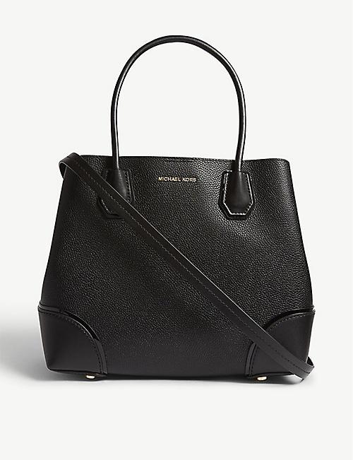 81981a74d6a MICHAEL MICHAEL KORS Mercer Gallery pebbled leather satchel