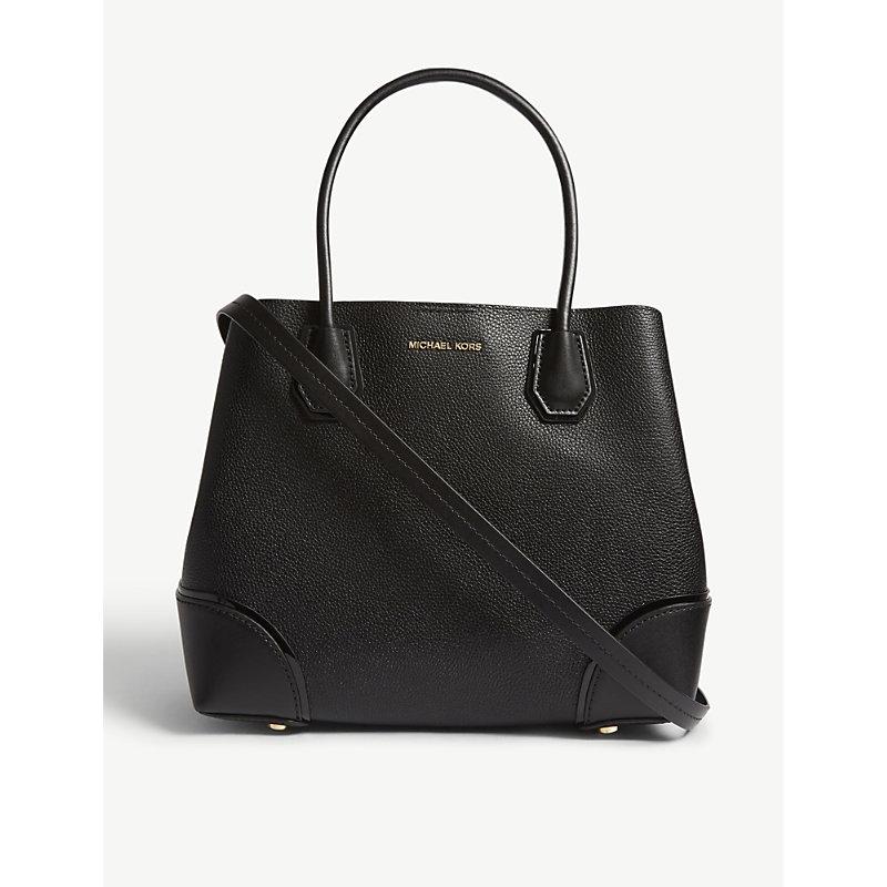 Medium Mercer Gallery Leather Satchel - Black