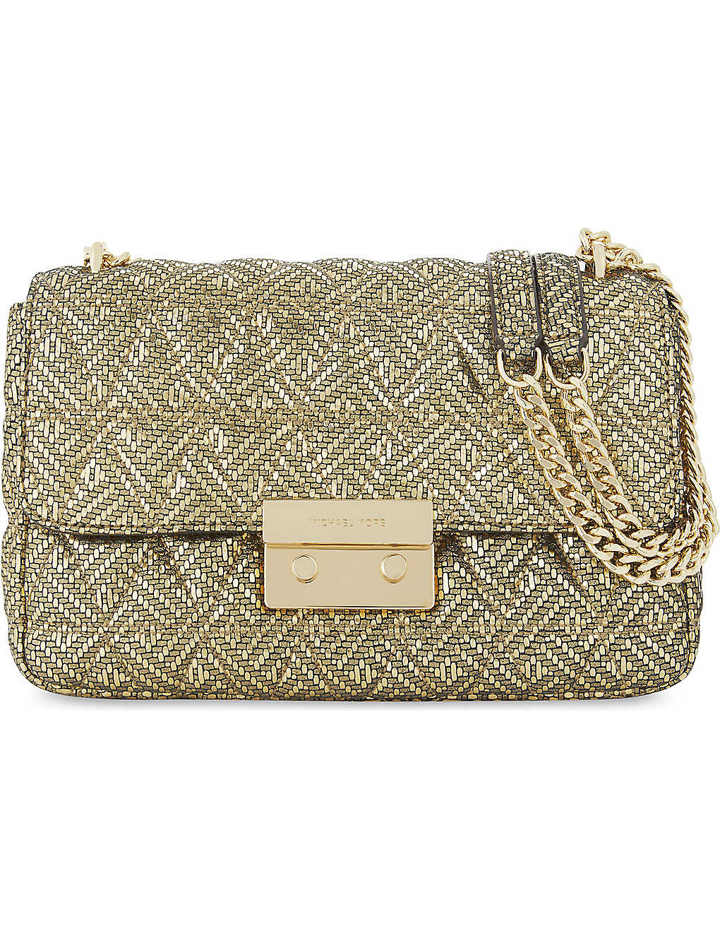 428454ad876079 MICHAEL MICHAEL KORS - Sloan metallic quilted leather shoulder bag ...